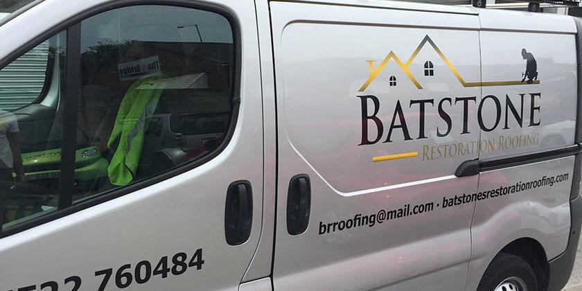 Batstone Restoration Roofing van