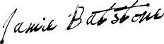 Jamie Batstone signature