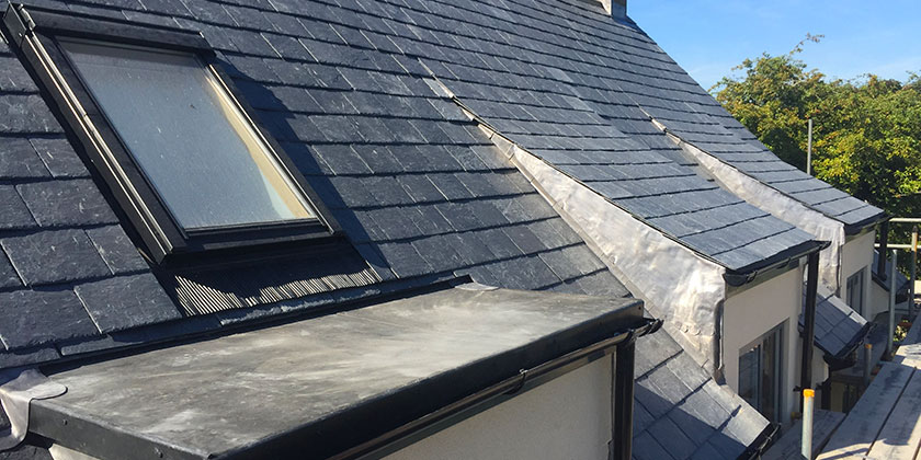 Natural slate roof, Whitley, Wiltshire