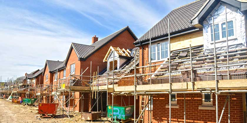 New build roofing construction