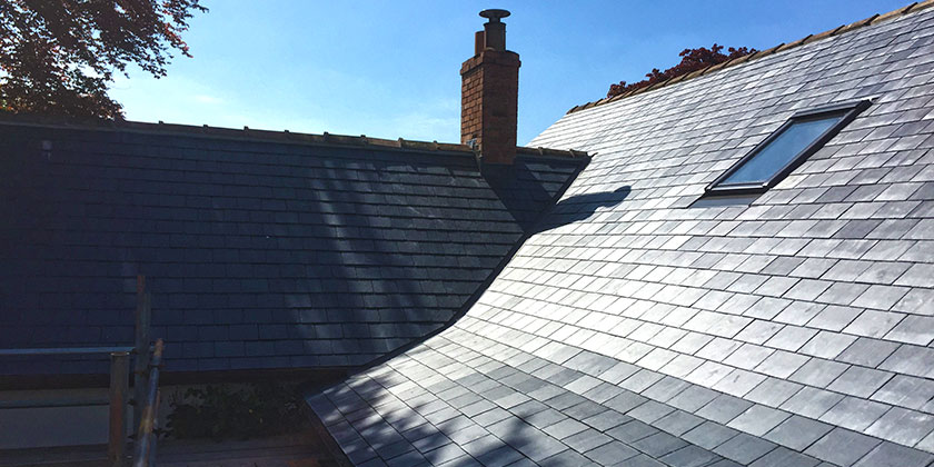 Roof replacement, Spanish slate