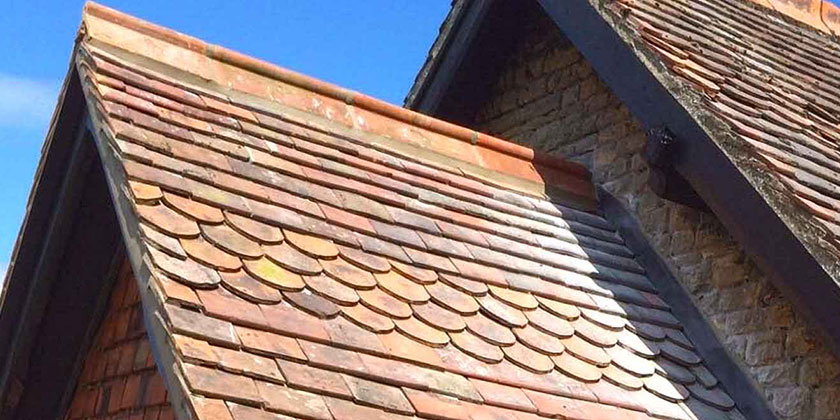 Roof replacement, clay tiles