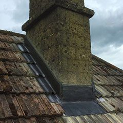Chimney leadwork, Bradford on Avon, Wiltshire