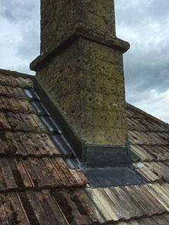 Chimney leadwork, Bradford on Avon, Wiltshire