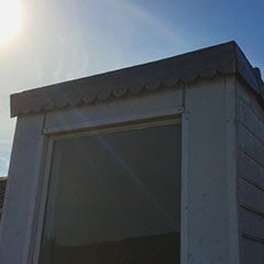 :eadwork on dormer window, Bath, Somerset