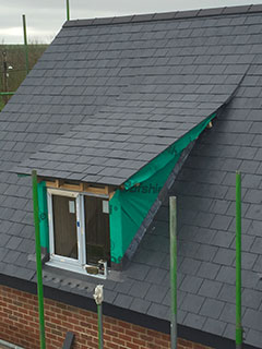 New build slate roof, Devizes, Wiltshire