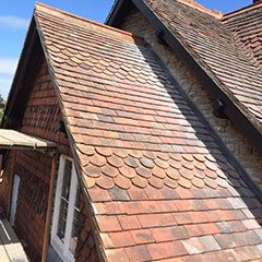 Re-roof using clay tiles, Westbury, Wiltshire