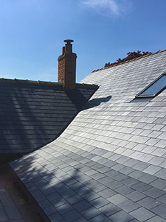 Spanish slate re-roof, Frome, Somerset