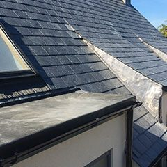 Spanish slate re-roof, Whitley, Wiltshire